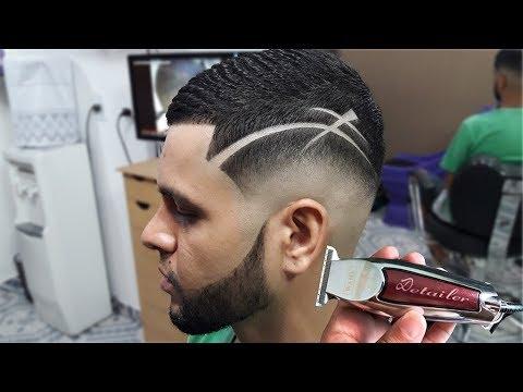 Corte De Cabelo Masculino Degradê Com Riscos Shelton Barber
