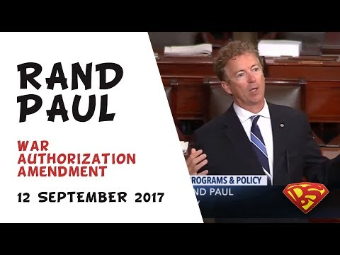 Incredible speech! Senator Rand Paul on America's unlimited, unconstitutional wars (NDAA/AUMF)(Full)