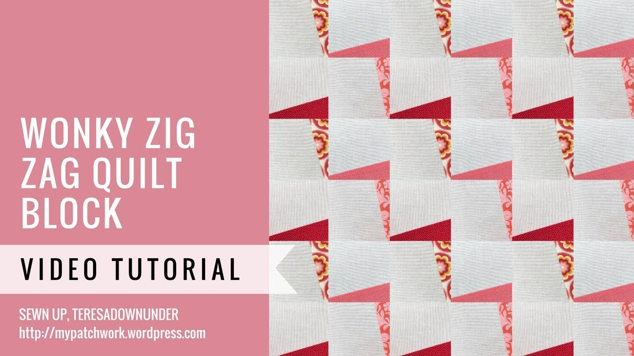 Wonky zig zag quilt video tutorial - YouTube