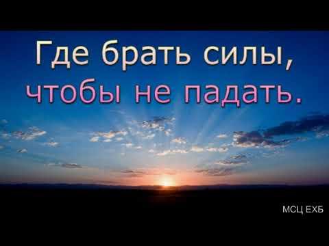"""""""Где брать силы, чтобы не падать"""". А. Н. Оскаленко. МСЦ ЕХБ."""