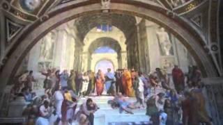 Schola Atheniensis picta est a Raphael Sanctio Urbinati iussu Iulii PP. II in Vaticano