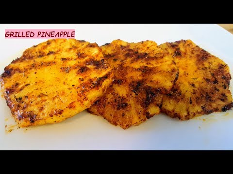 Sweet and Spicy Grilled Pineapple | How to make grilled pineapple | Pineapple Recipe