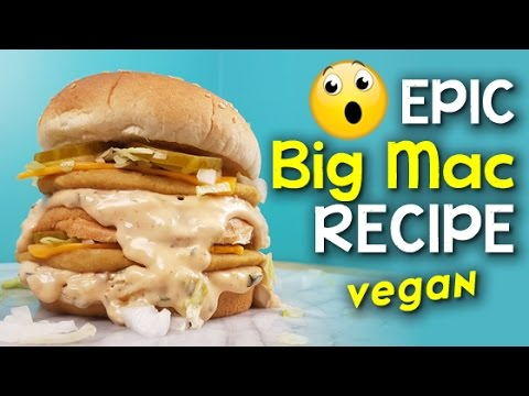 Epic Big Mac Recipe 🍔 Homemade Veggie Burger + Sauce #Vegan
