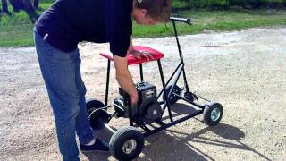 Homemade Bar Stool Kart - Take 1