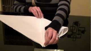 Repeat youtube video ~•/•/•~Relaxing Napkins Folding Tutorial~•/•/•~