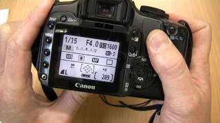 Using the Canon EOS 400D / Digital Rebel XTI DSLR - Media Technician Steve Pidd(This guide shows the main functions of the Canon EOS 400D. Use this to remind yourself of functionality while outside of college conducting coursework. Covers ..., 2013-10-22T10:51:15.000Z)