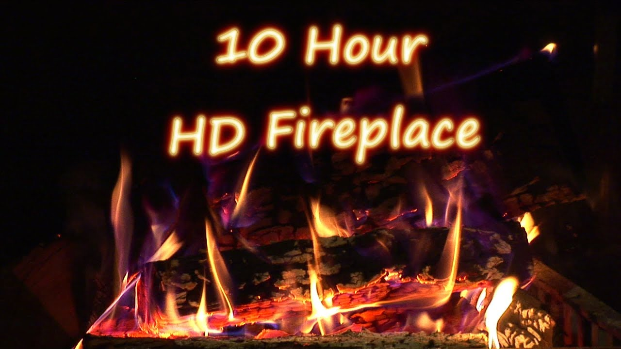 10 Hours - HD Relaxing crackling logs in a fireplace - Sounds for sleep and  relaxation
