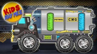 Kids Rhymes   Revamp Car Garage   Petrol Truck   Customization    Children's Cartoon Cars
