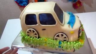 Торт машинка из мастики видео  Cake machine from video mastic