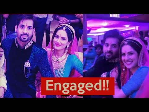 Kunal Verma(Aman of DSDT) and Puja Banerjee finally got engaged yesterday! Engagement Ceremony ❤