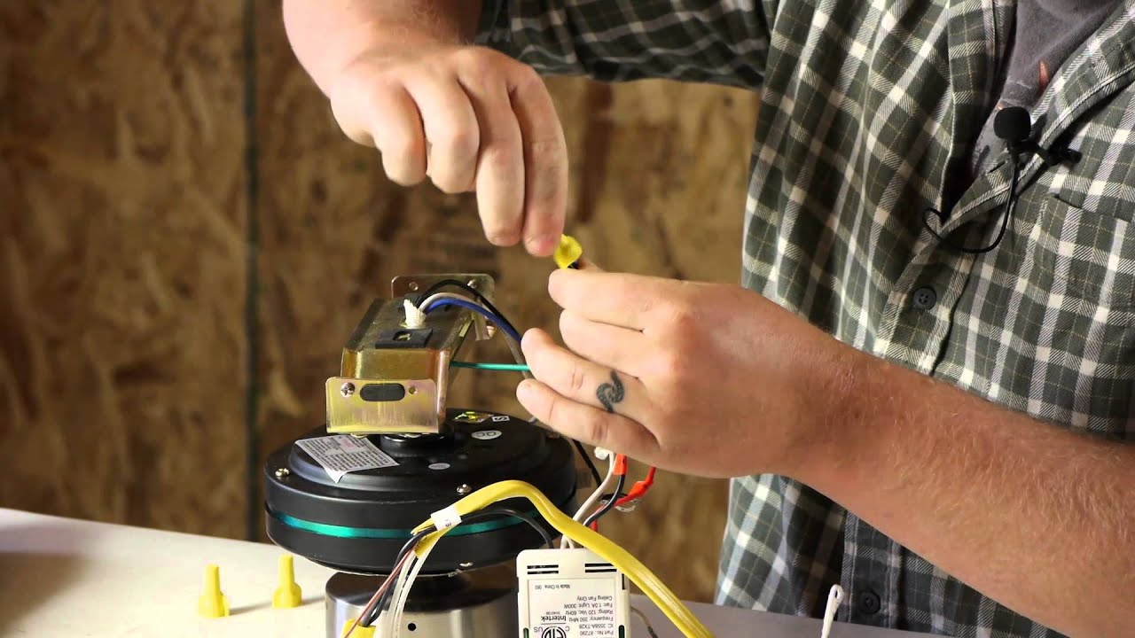 How to Wire a Ceiling Fan With a Remote to a Wall Switch : Ceiling Fans & Light Fixtures  YouTube
