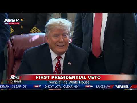 FIRST VETO: President Trump issues first veto after rebuke of border order (FNN)