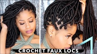 How To ➟ CROCHET FAUX LOCS 🔥 (NO cornrows, NO wrapping, free-parting!) thumbnail