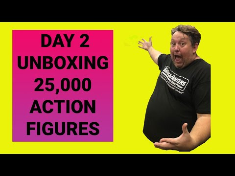 Unboxing 25,000 Action Figures Day 2 Abandoned Storage Star Wars Hot Wheels