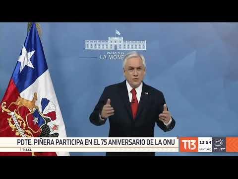 Presidente Piñera participa en 75° aniversario de Naciones Unidas