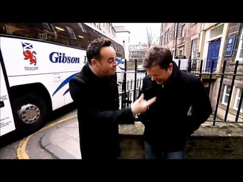 Stephen interviews Ant and Dec and Dec laughs at an accordion orchestra