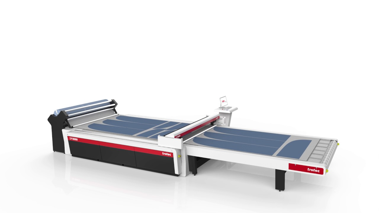 Roll Material Extension For Laser Cutting Textiles With