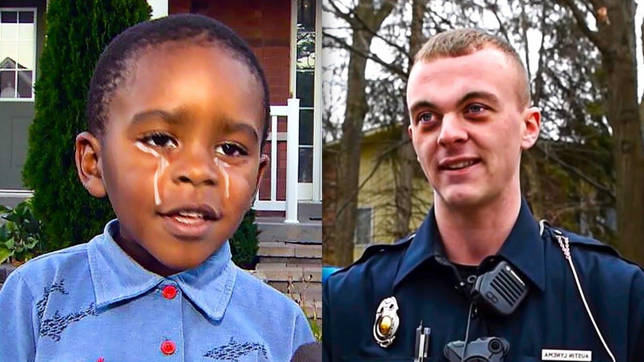 Un Garçon Appelle La Police, Et Commence A Pleurer Quand Il Voit Le Policier...