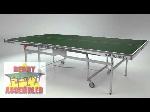 Butterfly Space Saver Rollaway 25 Green Package Table Tennis Table