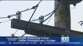 PG&E pulled the plug over fears that high winds could start a fire....