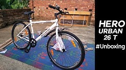 Hero Urban 26 T Single Speed Hybrid Cycle/City Bike (White) || Unboxing
