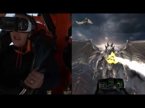Six Flags Discovery Kingdom Rage of the Gargoyles - Kong VR Split Screen