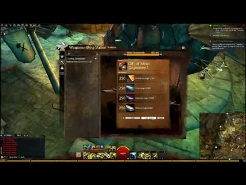 Gw2 Legendary step 2: The Gift Of Metal! - YouTube