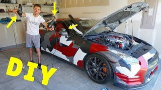 Tips And Tricks To Vinyl Wrapping Your Car AT HOME!!