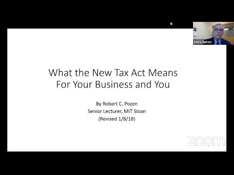 Faculty Forum Online: New Tax Act with Bob Pozen