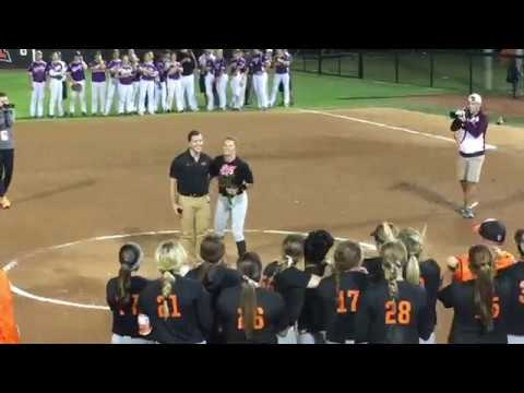 Cowgirl Softball Postgame Marriage Proposal Youtube