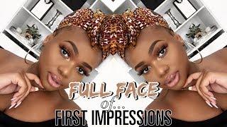A FULL FACE OF FIRST IMPRESSIONS! | Cynthia Gwebu