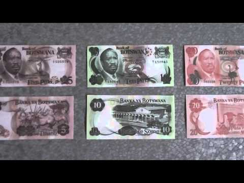 All Banknotes of Botswana pula - 1 Pula to 20 Pula in HD - 1976 to 1979 Issue in HD