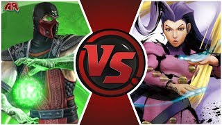 Ermac vs Rose (Mortal Kombat vs Street Fighter)   Cartoon Fight Club Episode 303