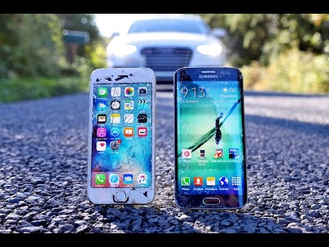 IPhone 6S Vs Samsung Galaxy S6 Edge Drop Test!