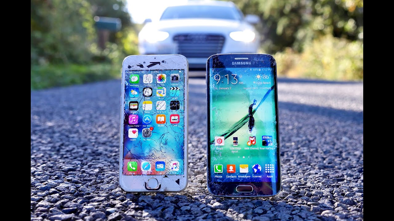 c94fd97b2 iPhone 6S vs Samsung Galaxy S6 Edge Drop Test! - YouTube