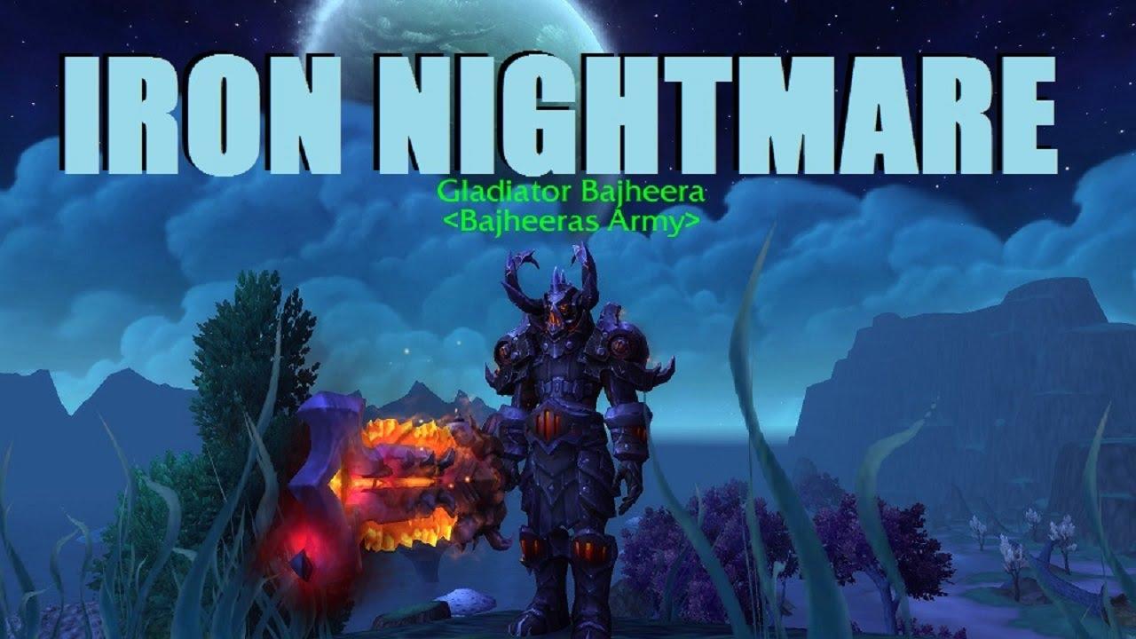 bajheera warrior quotiron nightmarequot transmog wow