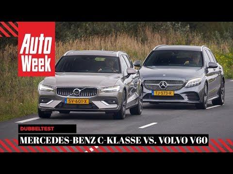 Mercedes-Benz C-klasse vs Volvo V60 - AutoWeek Dubbeltest - English subtitles