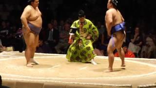 魁皇 対 高見盛 大相撲ロサンゼルス巡業 by サンディエゴゆうゆう Kaiou vs Takamisakari Grand Sumo LA by San Diego YuYu