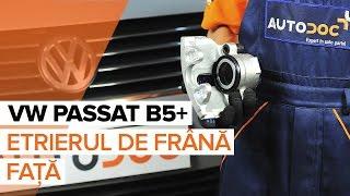 Cum se inlocuiesc etrierul de frână față pe VW PASSAT B5+ [TUTORIAL]