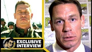 John Cena Tells Reporter's Son To Get Off Fortnite During BUMBLEBEE Interview (SDCC 2018)