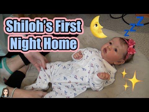 Reborn Baby Shiloh's First Night Home | Kelli Maple