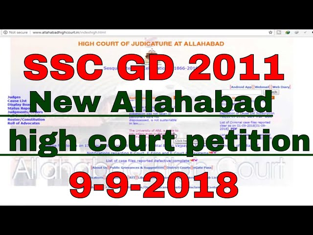 SSC GD BHARTI 2011,??????? Court ?? Judgement ? ??? , Latest News TODAY,  court order allahabad 2018