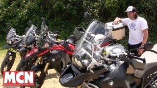 BMW F800GS vs R1200GS and Triumph 800XC vs 1200 Tiger Explorer | Road Tests | Motorcyclenews.com