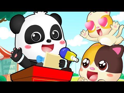ぼくはまちのしちょう★キキ しちょうへ変身★   ごっこ遊び   職業ごっこ   赤ちゃんが喜ぶ歌   子供の歌   童謡   アニメ   動画   ベビーバス  BabyBus