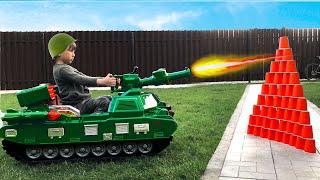 Officer Senya buys a new tank