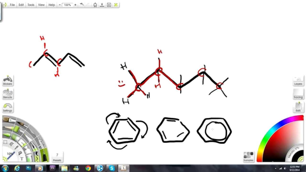 Line Drawing Chemistry : How to draw bond line structures for organic chemistry