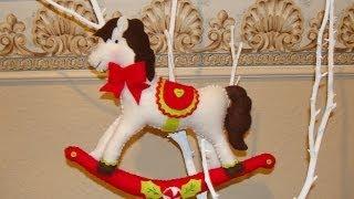 Diy - Caballito Navideños En Fieltro / Felt Christmas Rocking Horse