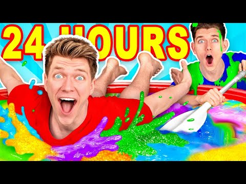 Смотреть Mixing $10,000 of Slime Challenge & Learn How To Make A Pool of Diy Giant Mystery Slime онлайн