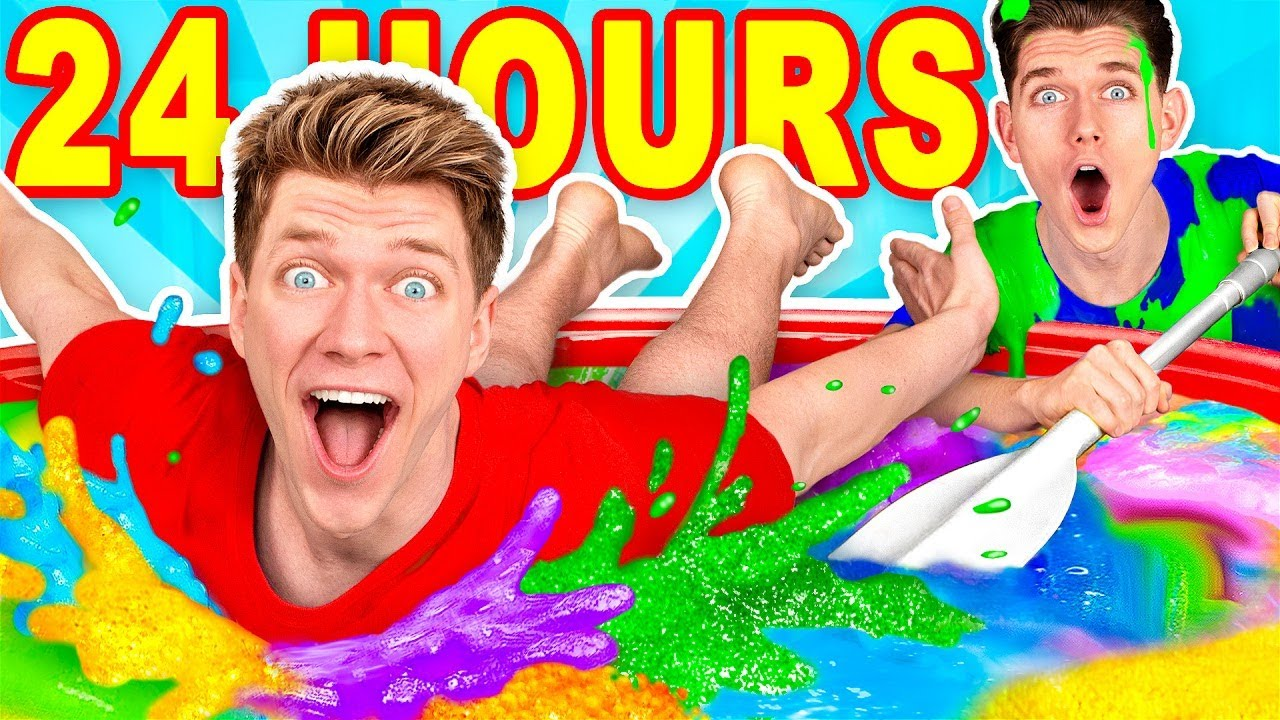 [VIDEO] - Mixing $10,000 of Slime Challenge & Learn How To Make A Pool of Diy Giant Mystery Slime 6