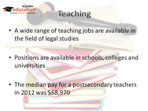 What Can you Do With a Legal Studies Degree